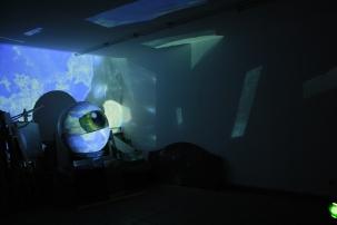 Proyección de Película Abstracta sobre escenografía
