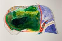 """""""Para toda la vida"""" IV. Medidas: 37x32 cm. Papel magnani de 400grs. Tinta y acrílico"""